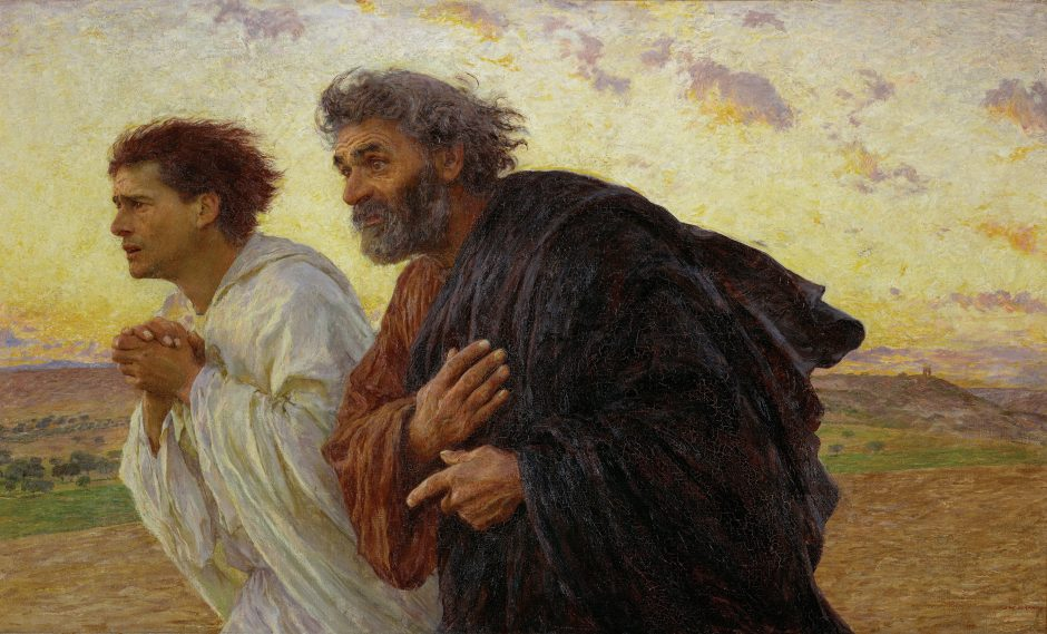 The Disciples Running to the Sepulchre painting by Burnand