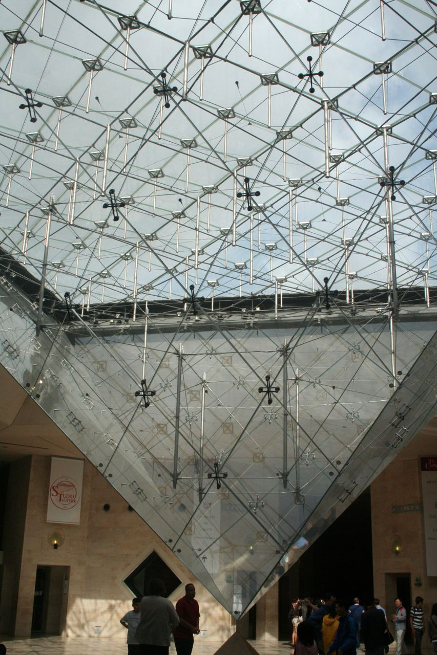 The Entrance to the Louvre Museum